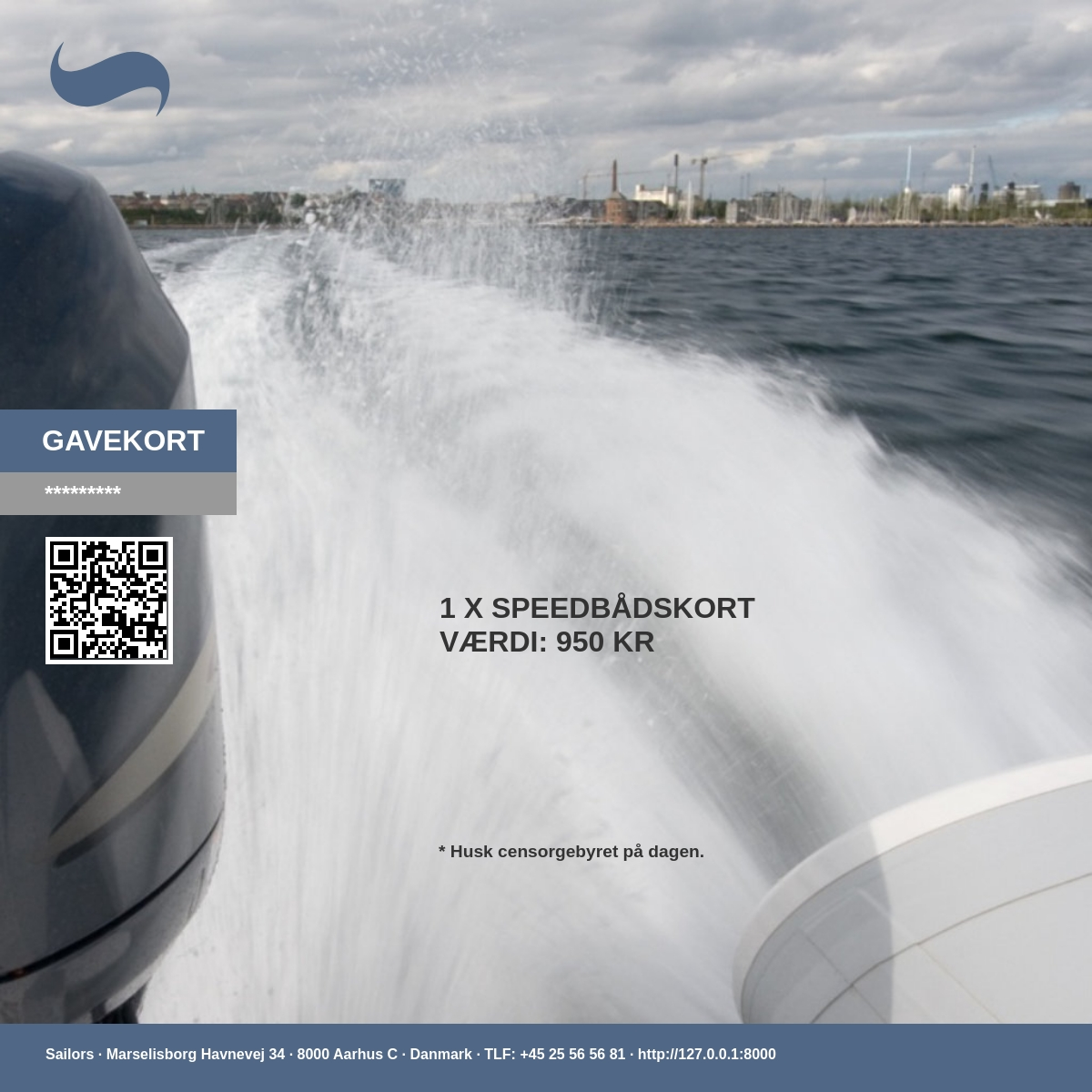 Gaven til en god oplevelse, hvor du lærer at sejle en speedbåd, og basic navigation. En rigtig god start før vandscooterbeviset. For at få et duelighedsbevis skal du også have speedbådskørekort